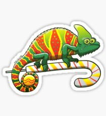 Christmas Chameleon Sticker