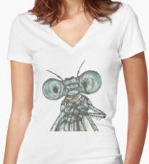 Dragonfly Selfie  Women's Fitted V-Neck T-Shirt