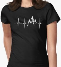 MOUNTAIN IN MY HEARTBEAT T SHIRT  Women's Fitted T-Shirt