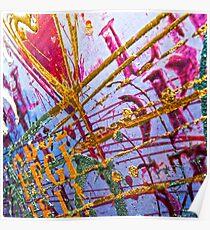 Love Grunge Texture Poster