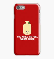 Christmas Character Building - You make me feel warm inside iPhone Case/Skin
