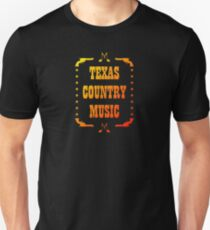 Colorful Texas Country Music Unisex T-Shirt