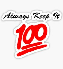 Keep it 100 Emoji Shirt Sticker