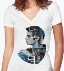 Dylan O'Brien Squares Women's Fitted V-Neck T-Shirt