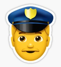 Emoji Police Officer (Male) Sticker