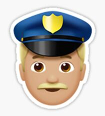 Emoji Police Officer (Blonde Male) Sticker