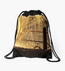 Circle of fire  Drawstring Bag