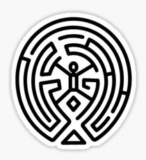 Westworld Black Maze Original Sticker