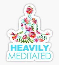 Heavily Meditated Floral Sticker
