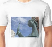 Girl with Tucan statue in Peurto Rico Unisex T-Shirt