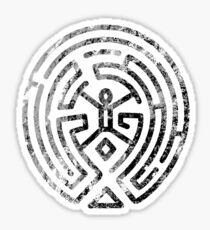 Westworld Maze Original Black Distressed Sticker