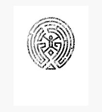Westworld Maze Original Black Distressed Photographic Print