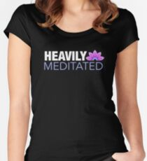 Heavily Meditated | Lotus Design Women's Fitted Scoop T-Shirt