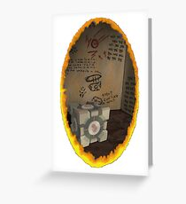 Orange Portal Unwalled Greeting Card