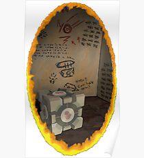 Orange Portal Unwalled Poster