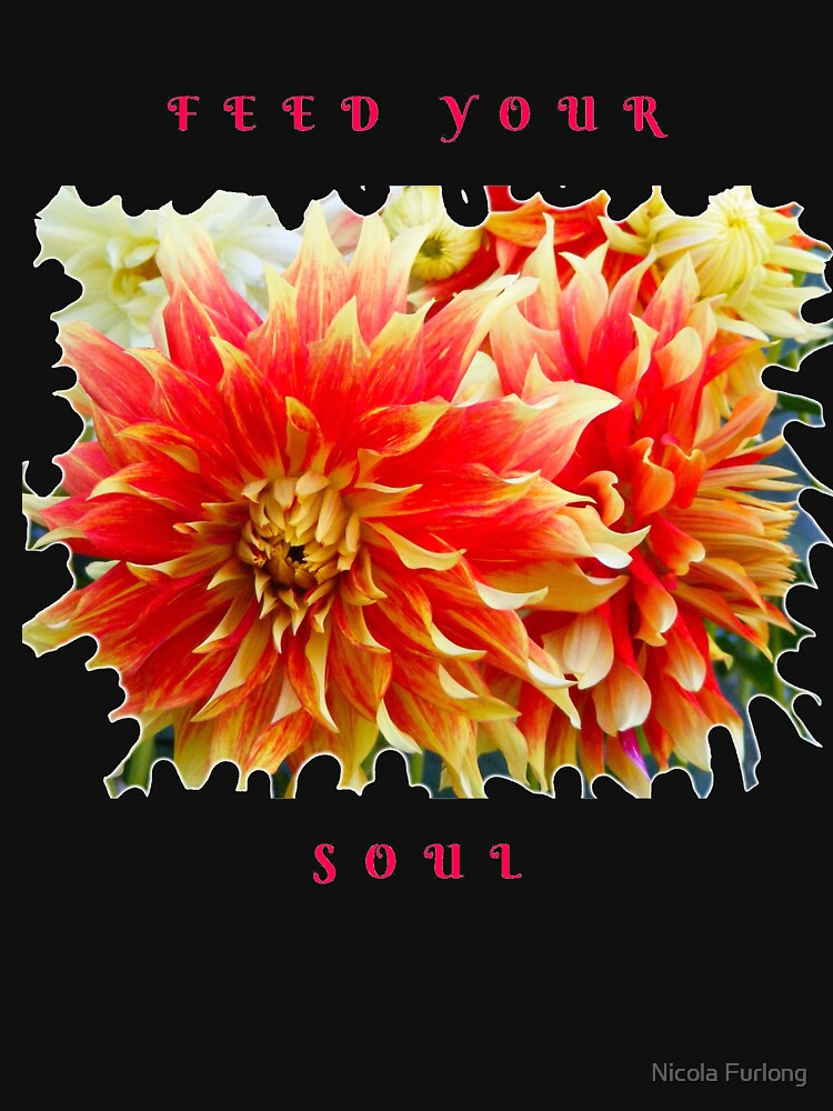 FEED YOUR SOUL DAHLIA INSPIRATIONAL QUOTE by nicolafurlong