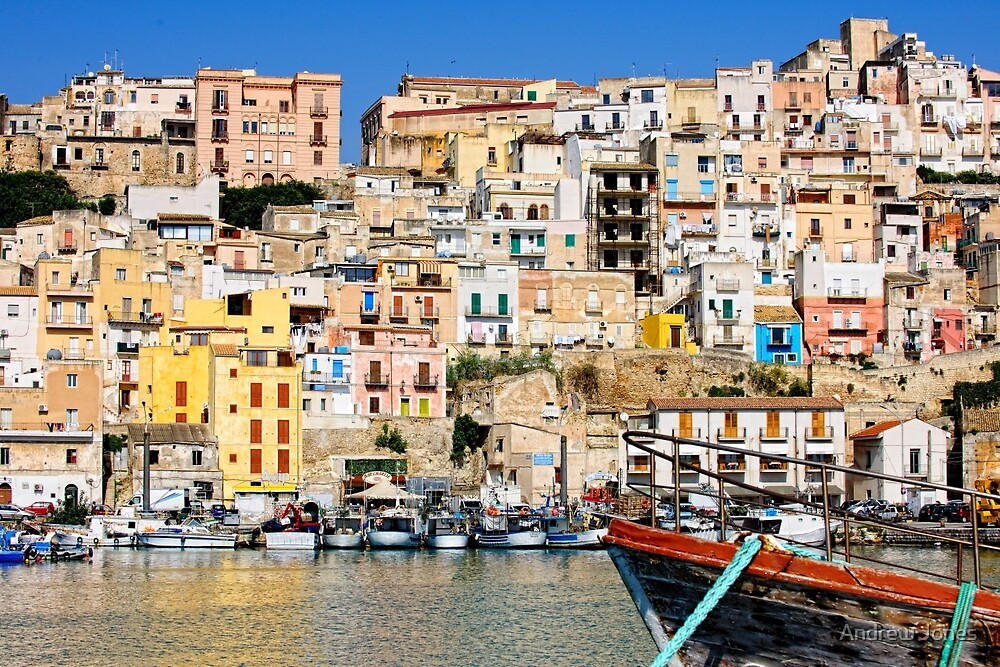 Town of sciacca sicily viewed from the port by andrew for Arte arredi sciacca