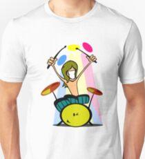 Drummer Cartoon T-Shirt
