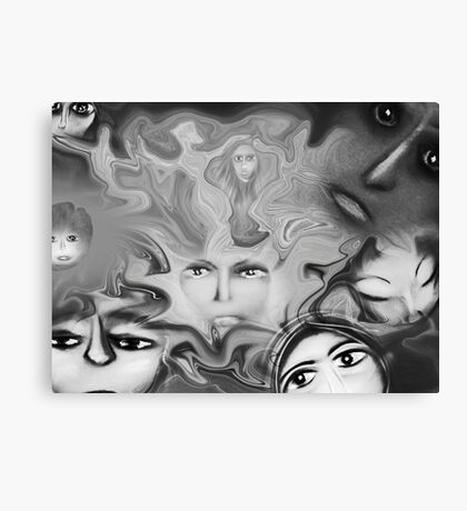 Face off Canvas Print