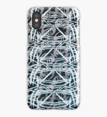 Tribal spine-like pattern on textile iPhone Case/Skin