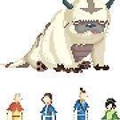 Avatar pixel sticker pack by drawsgood