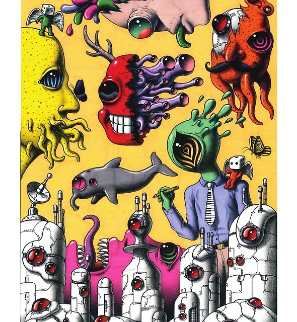 Psychedelic Rock Poster  by Jimmy  Alonzo