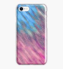 Glittery Sunburst - Icy Blue and Pink iPhone Case/Skin