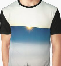 Majestic fog ocean in the mountains on sunset, Alsace, France Graphic T-Shirt