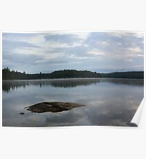 cloud reflection on a lake  Poster