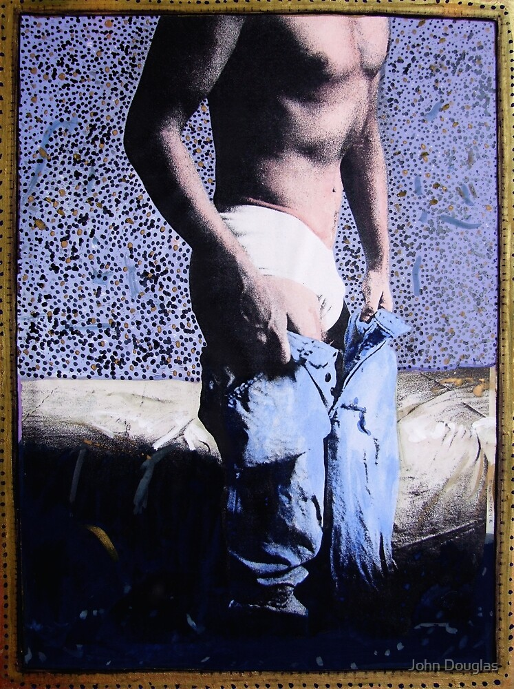 Self Portrait With Jeans by John Douglas