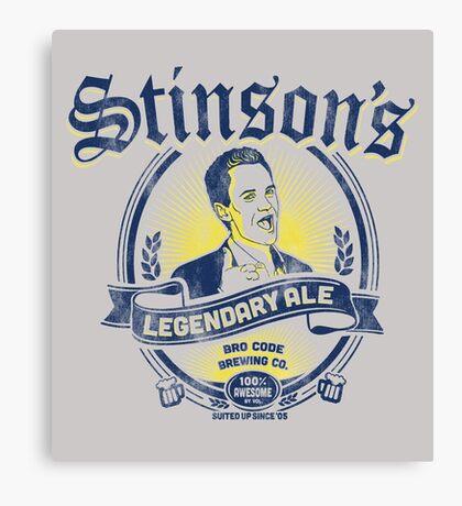Stinson's Legendary Ale Canvas Print