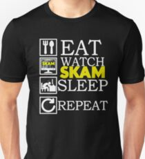 Eat, Sleep, Watch Skam and Repeat Unisex T-Shirt