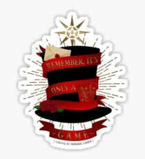 Caraval | 'Remember, it's only a game.' Sticker