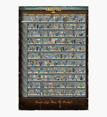 "Fallout 4 ""Perk Chart"" Photographic Print"