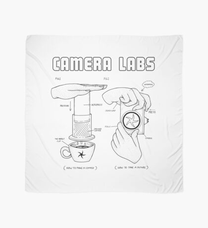 Cameralabs Photography and Coffee (Black artwork) Scarf