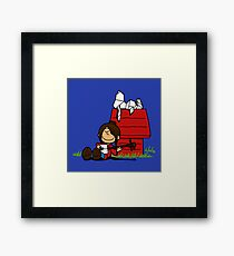 The storyteller and his origami Framed Print