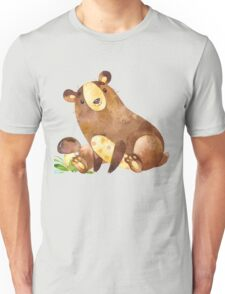 Cute Watercolor Woodland Baby Bear  Unisex T-Shirt