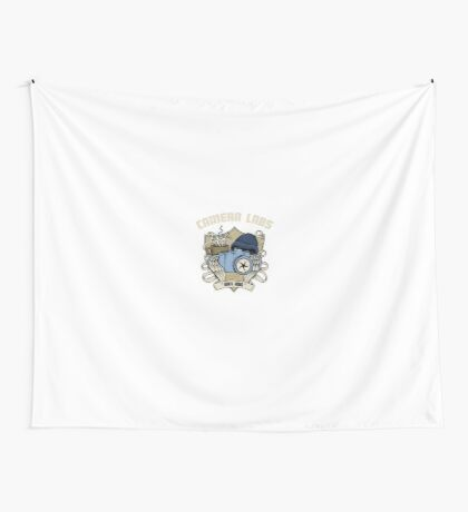 Cameralabs Photography Crest (Camera, Coffee, Beanie) Wall Tapestry