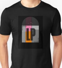 Black Stereo LP Vinyl Record Album T-Shirt