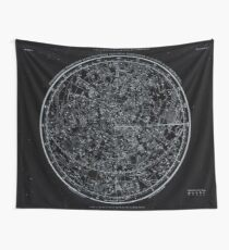 Constellations of the Northern Hemisphere | Pale Blue On Black Wall Tapestry