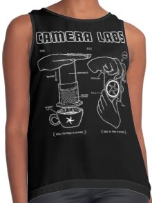 Cameralabs Photography and Coffee (White artwork) Contrast Tank