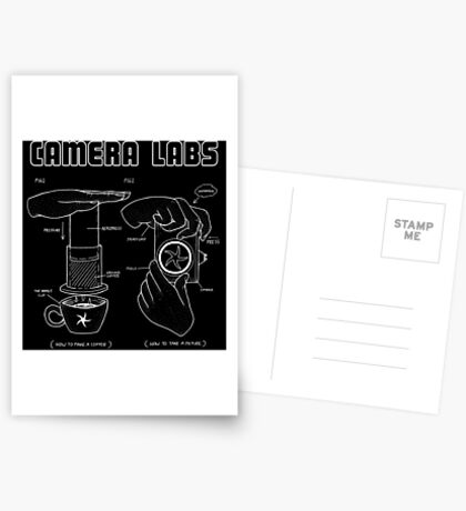 Cameralabs Photography and Coffee (White artwork) Greeting Card