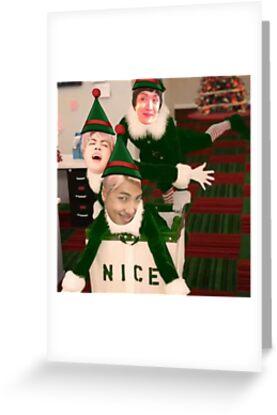 Bts christmas elf meme greeting cards by mordowin redbubble bts christmas elf meme by mordowin m4hsunfo