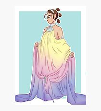Rey in Padmé dress Photographic Print