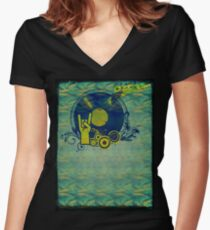 Music Collage 76 Women's Fitted V-Neck T-Shirt