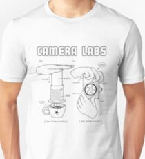 Cameralabs Photography and Coffee (Black artwork) Slim Fit T-Shirt