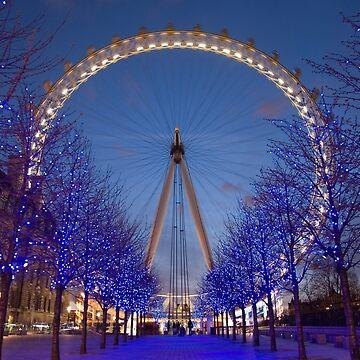 London Eye by Night by Fl0werdauqhter
