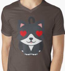 Lovely Cat Emoji Heart and Love Eyes T-Shirt