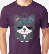 Lovely Cat Emoji Sleepy and ZZZ Face T-Shirt