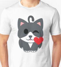 Lovely Cat Emoji Flirting and Blowing Kiss T-Shirt